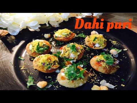 Dahi puri recipe, dahi puri recipe in Hindi , dahi puri chaat recipe,dahi sev puri recipe,