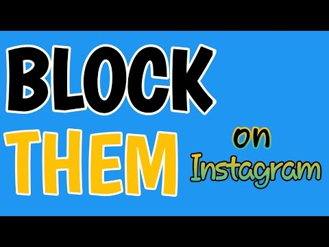 How to BLOCK People On Instagram!!