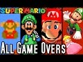 Super Mario ALL GAME OVER SCREENS 1985-2015 (Wii U to NES)