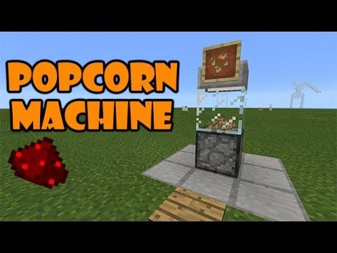 POPCORN MACHINE TUTORIAL | Minecraft PE Redstone Contraption | #pinoyyoutubersrule