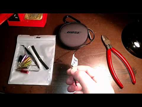 Replace 3.5mm 4 Contact Phone Jack on BOSE Ear Buds with a Mic
