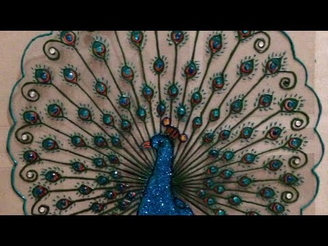 How To Create a Beautiful Plastic Peacock Design - DIY Crafts Tutorial - Guidecentral