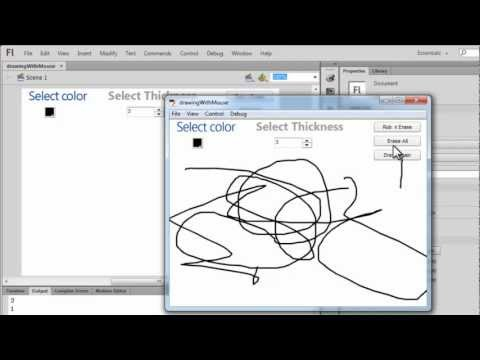 Flash Tutorial - Drawing and Erasing with the Mouse Pointer