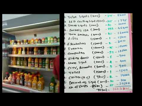 Load  calculation  For  House  wiring/load calculation of super market