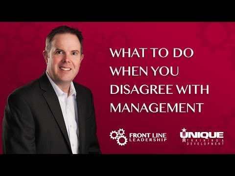 What To Do When You Disagree With Management