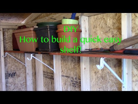 DIY: How To Build An Easy Shelf For Your Garage or Shed