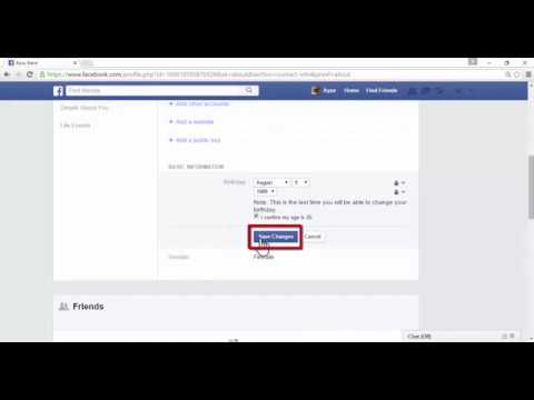 how to change date of birth on facebook 2017