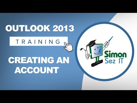 Microsoft Outlook 2013 Tutorial - Creating an Account