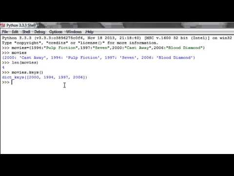 Python Programming Tutorial - 32: Dictionary Functions