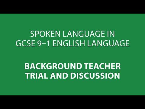 Spoken Language in GCSE 9-1 English Language (from 2015)