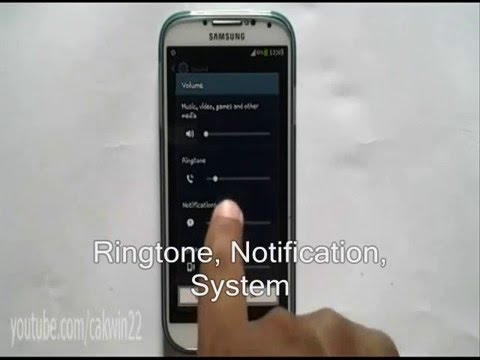 How to Android Set Volume On Samsung Galaxy S4 Jelly Bean