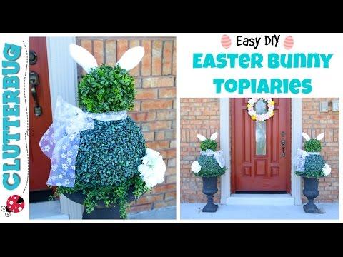 🐰 Easy DIY Easter Bunny Topiaries 🐰