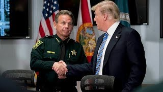 Trump visits Florida shooting victims, first responders