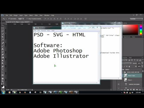 PSD to SVG to HTML using Object .! ...,  part -- 1