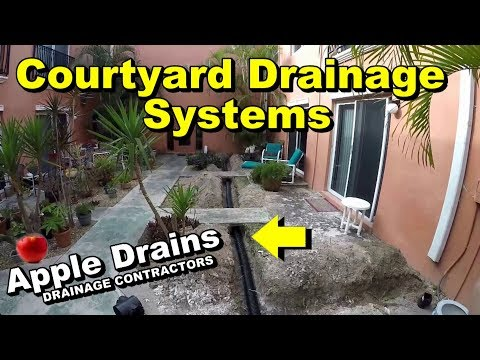 Courtyard Drainage System, French Drain, Sump Pump, Catch Basin