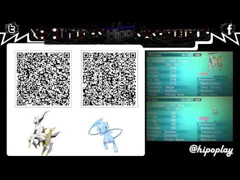[Terminado] Code qr Arceus & Mew Chiny   Pokemon XY / ORAS
