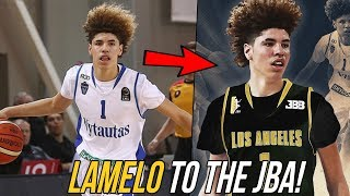 LaMelo Ball Joins The JBA! Lavar Makes Son FACE of His League! (I WAS RIGHT!!)