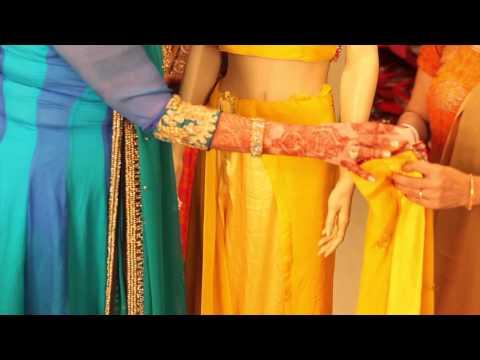 How to Wear an Indian Sari : Indian Wedding Attire