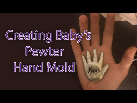 Creating baby's pewter mold