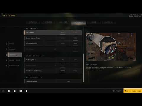 How to Disable FPS Counter in Black Ops 4