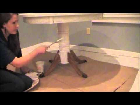 DIY Chalk-like Paint Table Makeover - Antique White (Part 1 of 2)