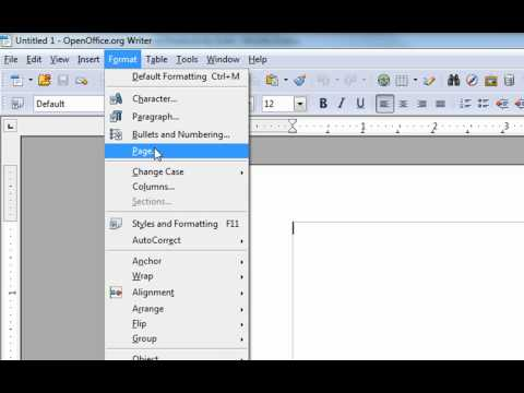 Changing the Margins in Open Office Writer to be like MS Word & Other Changes