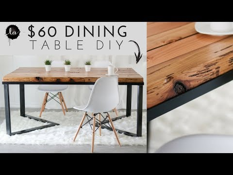 DIY Scandinavian Dining table | Wood & Metal | Recycled Wood