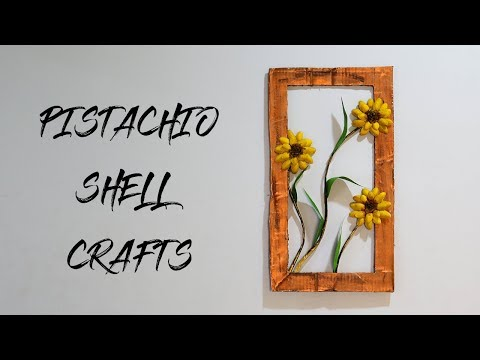 PISTACHIO SHELL CRAFTS   BEST OUT OF WASTE   AMAZING WALLHANGING IDEAS  