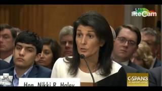 Sen. Tim Kaine Questions Nikki Haley, Schools Her on Iran Nuke Deal (1/18/17)