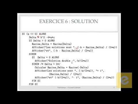 21 Algorithmique : Exercice 6