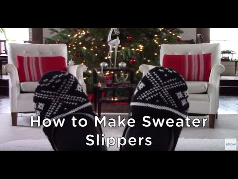 DIY Cozy Sweater Slippers