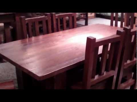 Barnwood Dining Set (Table & Chairs) - Reclaimed Wood by Viking