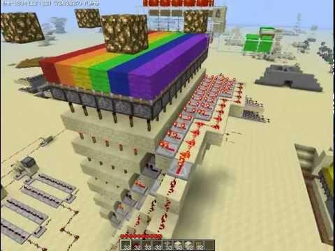 Minecraft Rainbow Runner How it works ! Repeater / clock version