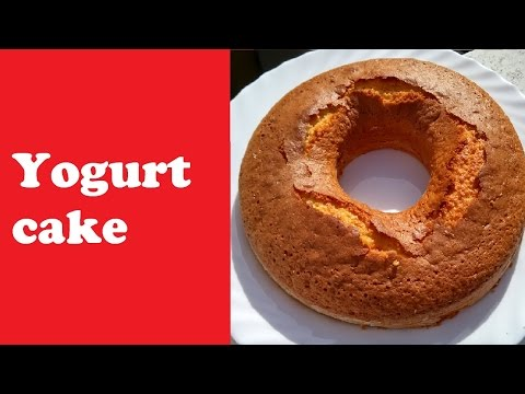Yogurt sponge cake recipe