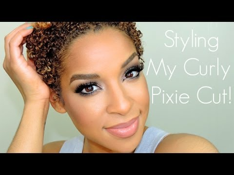 Styling My Naturally Curly Hair    TWA