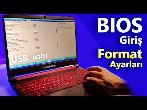 BIOS ayarları/ giriş tuşu/reset/usb ile format ayarı / fabrika ayarlarına dönmek/ windows boot menü