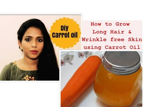 How to grow hair long & strong / Smooth free from split ends and glowing skin -Carrot Oil
