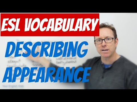 English vocabulary - Words to describe someone's appearance - palabras en inglés