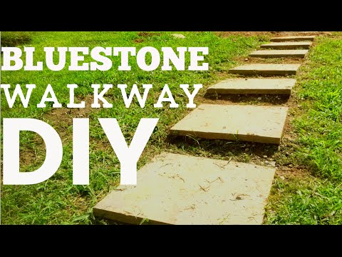 How to Lay a Bluestone Walkway Easy