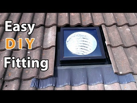 Velux Sun Tunnel Diy Install Easy How To Fit A Solar Tube Or Suntube