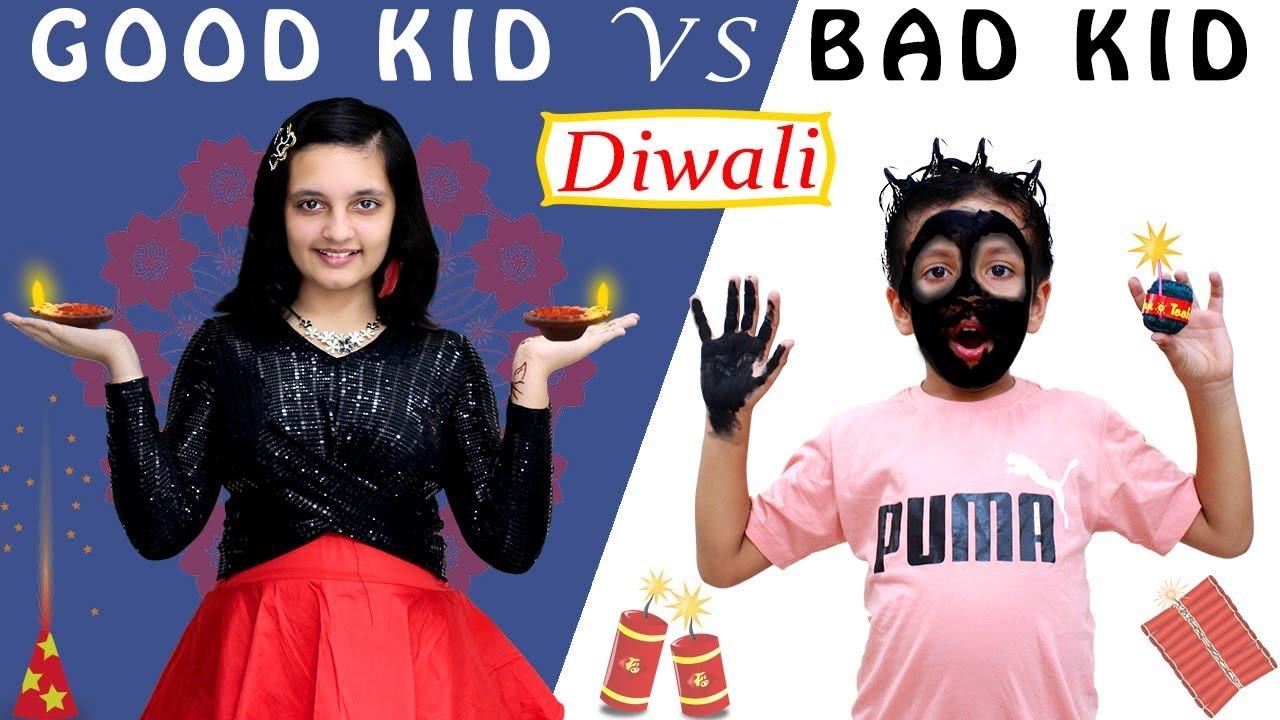 GOOD KIDS vs BAD KIDS Diwali special #Funny Types of Kids on Diwali   Aayu and Pihu Show