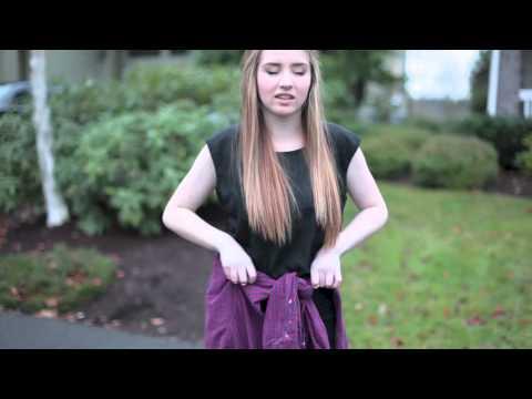 3 Ways to Style a Flannel Shirt (TIE AROUND THE WAIST 90'S TREND)