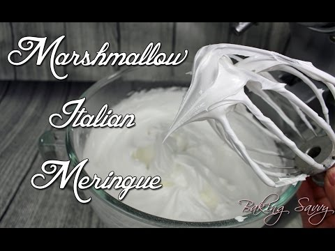 The Best Ever Marshmallow Italian Meringue -