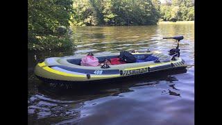 Schlauchboot mit Elektromotor - Fishman 400 mit Excursion Elektromotor