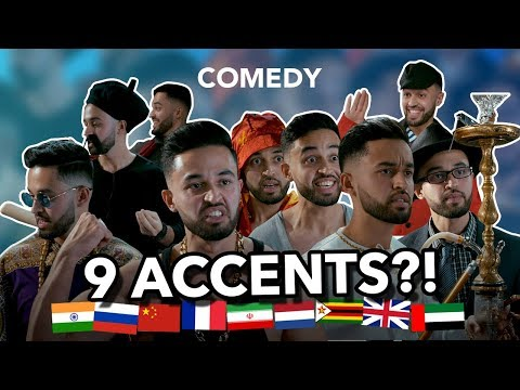 The man with the 9 accents! - The Bike Shop (comedy sketch)