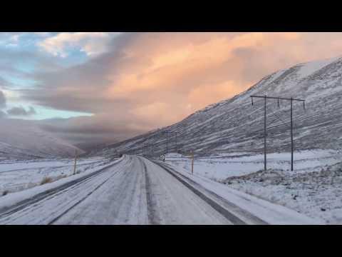Driving on Ring Road -- Akureyri to Reykjavik