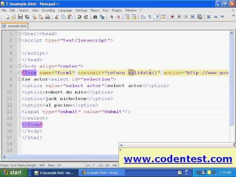 Validating Dropdown List in Javascript