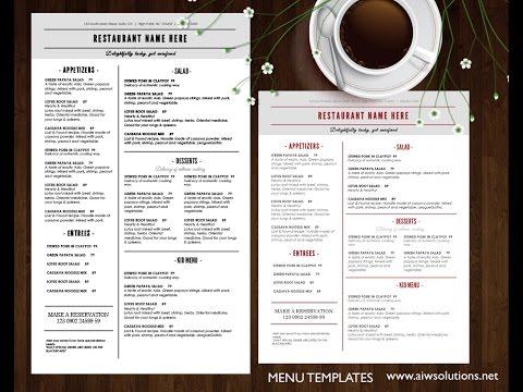 Create food menu or restaurant menu using MS WORD