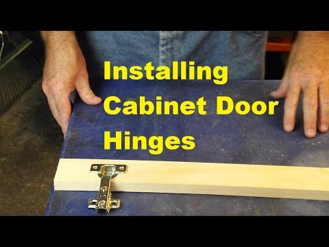 Installing  cabinet hinges.  Video Response To Kaligirl1980