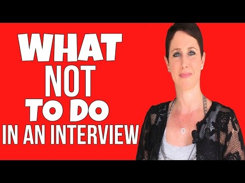 What NOT to do During a Job Interview | Debra Wheatman